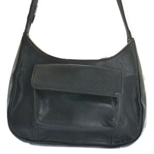 Fossil Black Leather Organizer Shoulder Bag